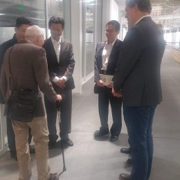Fred Martin with the chinese officials at SFAI 2019