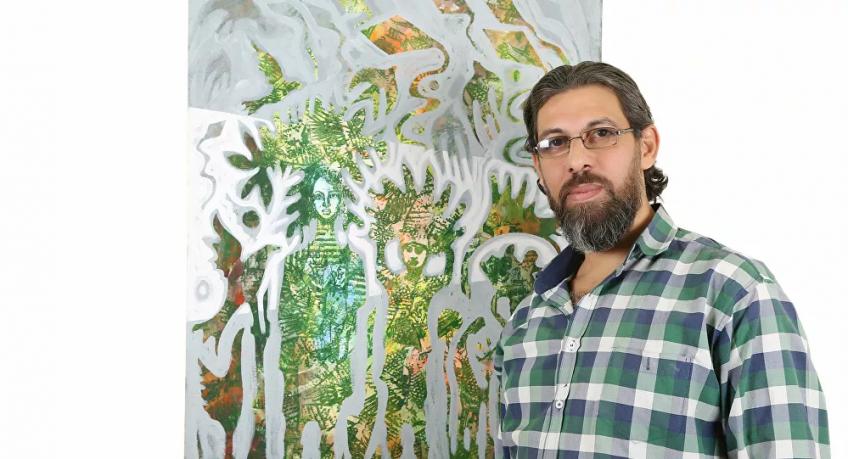 """""""الفن انعكاس للواقع""""… معتز العمري فنان فلسطيني يجسد القضية بريشة سحرية"""